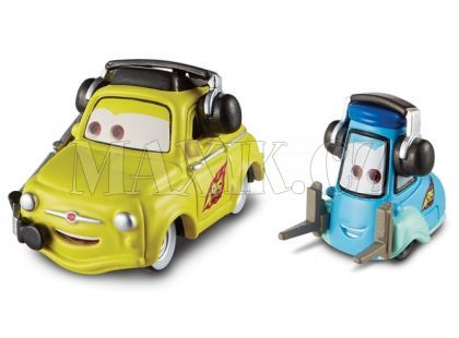 Cars 2 Auta Mattel W1938 - Luigi  a Guido with headsets