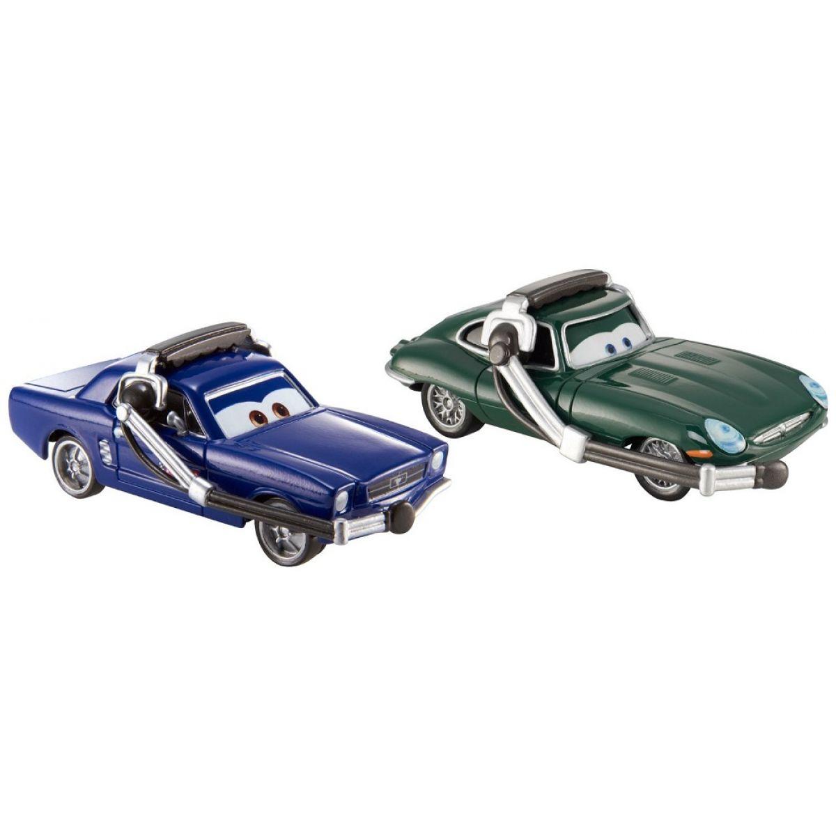 Cars 2 autíčka 2ks Mattel Y0506 - Brent MustangBurger a David Hobbscapp