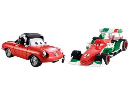 Cars 2 autíčka 2ks Mattel Y0506 - Francesco Bernoulli a Giuseppe Motorosi
