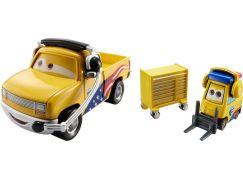 Cars 2 autíčka 2ks Mattel Y0506 - Jeff Gorvette Pitty a John Lassetire