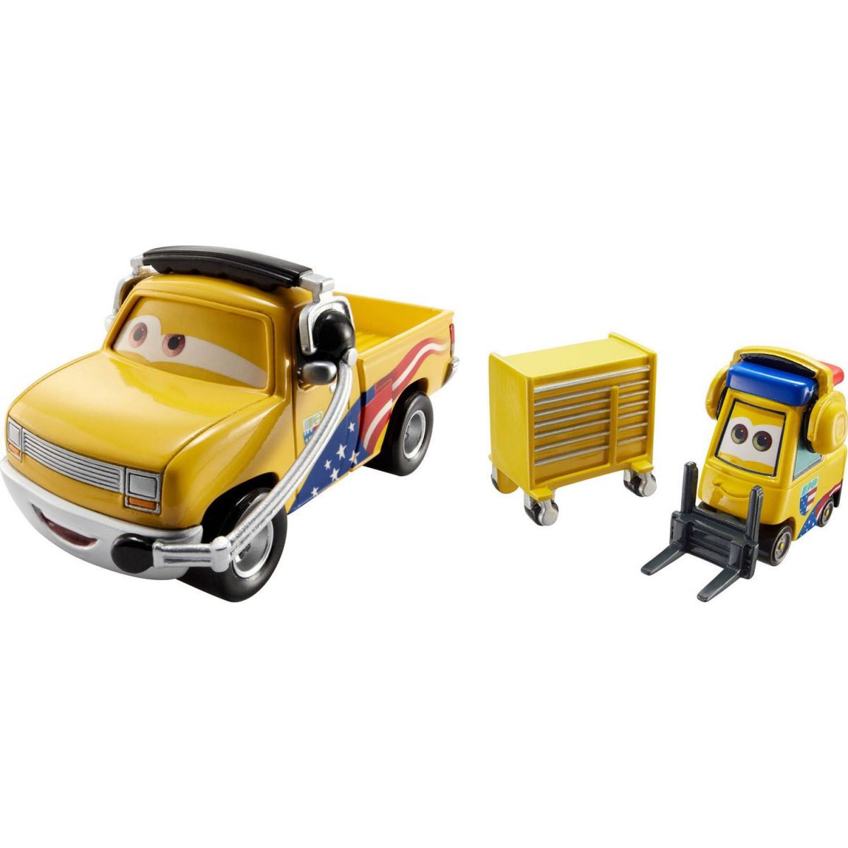 Cars 2 autíčka 2ks Mattel Y0506 - Jeff Gorvette Pitty a John Lassetire