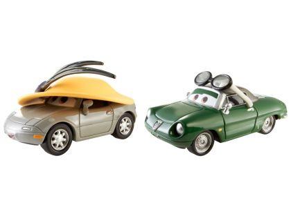Cars 2 autíčka 2ks Mattel Y0506 - Kimberly Rims a Carinne Cavvy
