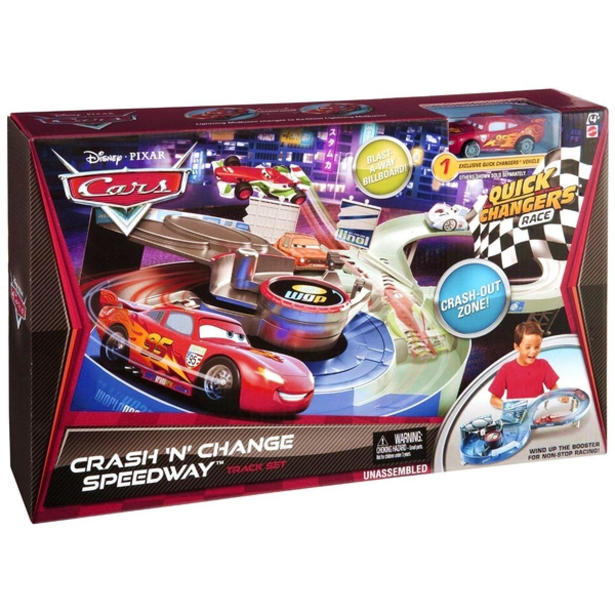 Cars 2 Hrací sada s vyměnitelnými prvky Mattel X0775