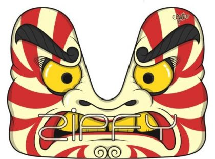 Carvingové boby ZIPFY Artist Samurai