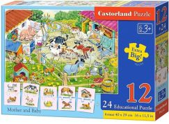 Castorland Puzzle 12 dílků a 24 puzzlí do páru
