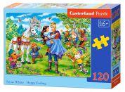 Castorland Puzzle 120 dílků Sněhurka a šťastný konec