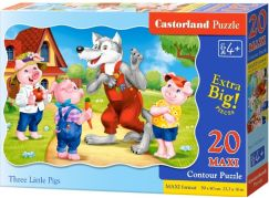 Castorland Puzzle 20 Maxi Tři malá prasátka
