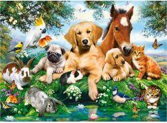 Castorland Puzzle 200 dílků premium Zvířecí parta