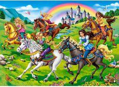 Castorland Puzzle 260 dílků Princezny na vyjížďce
