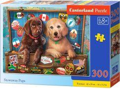 Castorland Puzzle 300 dílků Štěňata Labradorů v kufru