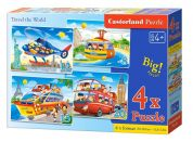 Castorland Puzzle 4 v 1 Cestování po světě