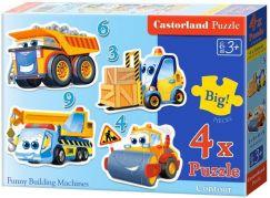 Castorland Puzzle 4 v 1 mini Doprava