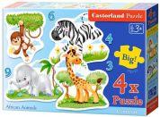 Castorland Puzzle 4 v 1 mini Safari