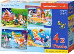 Castorland Puzzle 4 v 1 Pohádky