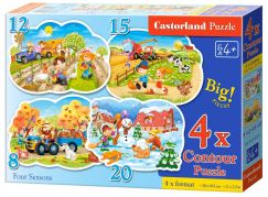 Castorland Puzzle 4 v 1 Roční období