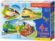 Castorland Puzzle 4 v 1 Vlaky