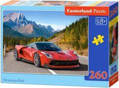 Castorland Puzzle Červené auto v horách 260 dílků