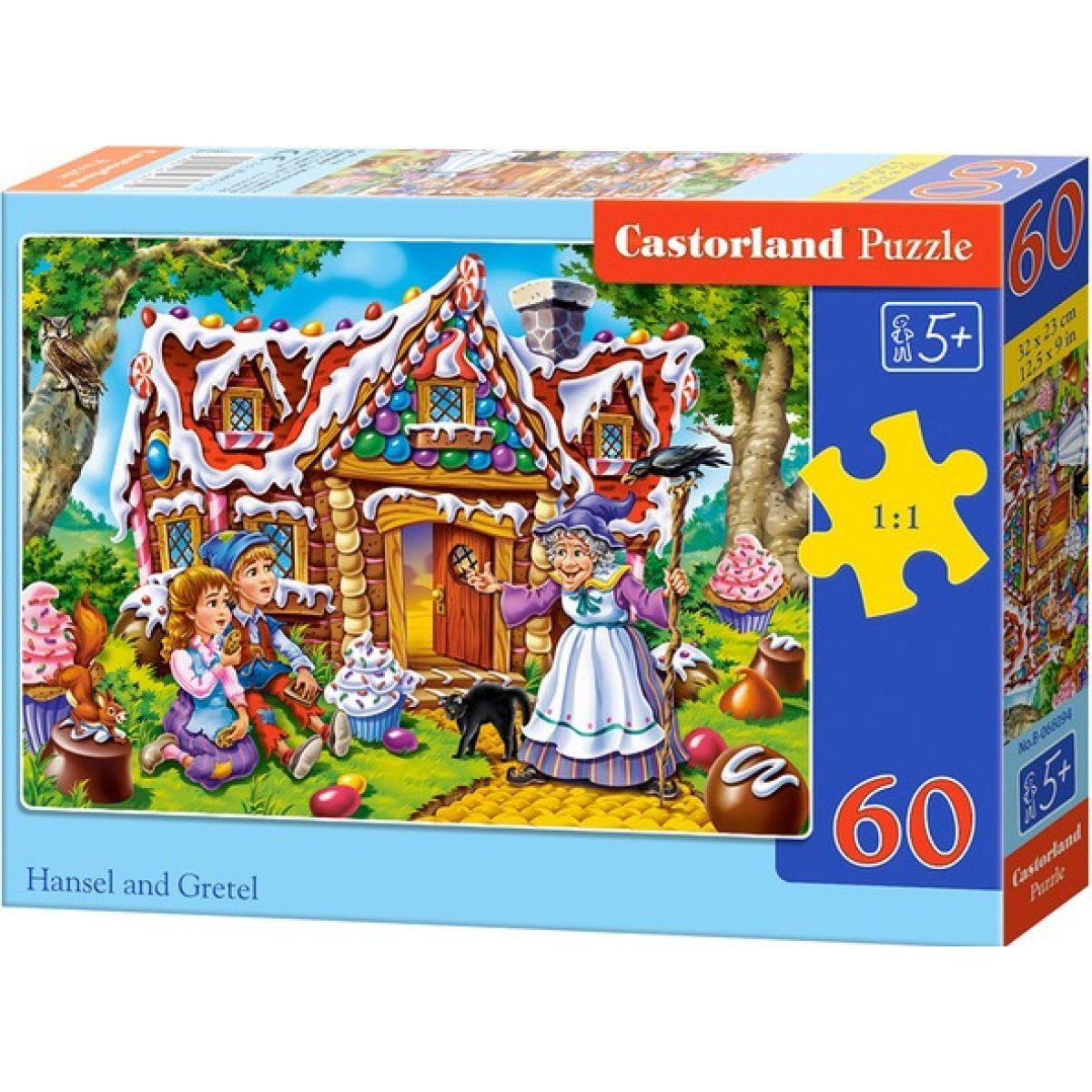 Castorland Puzzle Jeníček a Mařenka 60 dílků