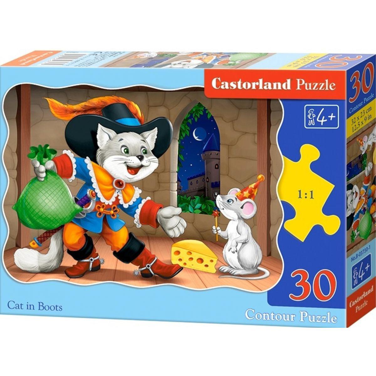 Castorland Puzzle Kocour v botách 30 dílků