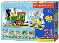 Castorland Puzzle Mašinka 21 dílků