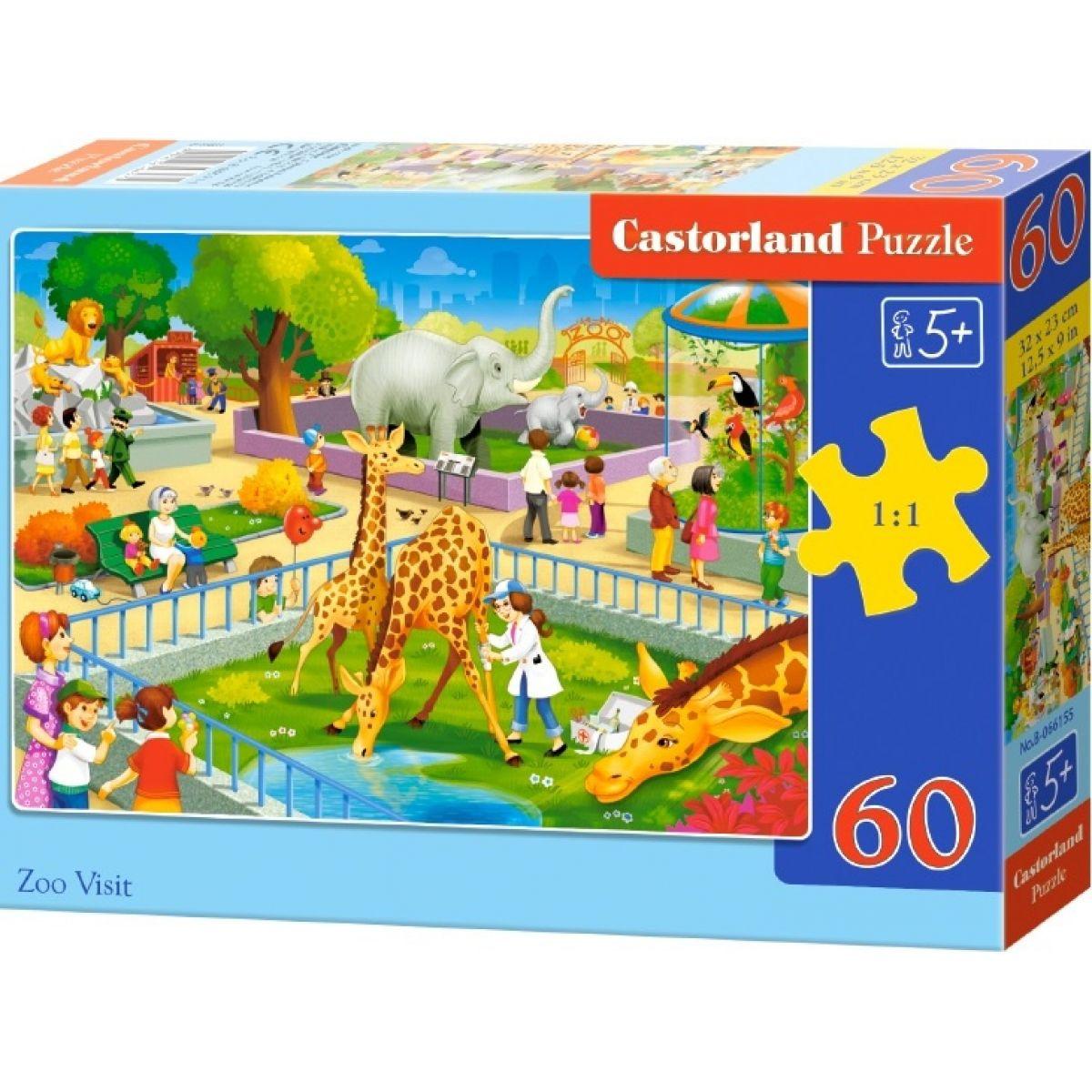 Castorland Puzzle Návštěva v ZOO 60 dílků