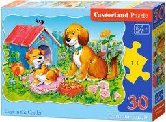 Castorland Puzzle Pejsci na zahradě 30 dílků