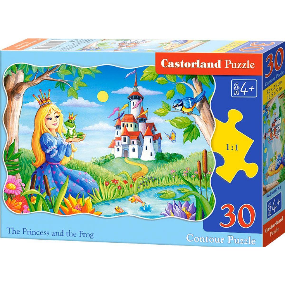 Castorland Puzzle Princezna s žabákem 30 dílků