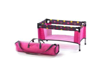 Cestovní postýlka pro panenky - funny pink