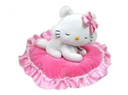 Charmmy Kitty na polštářku srdíčko