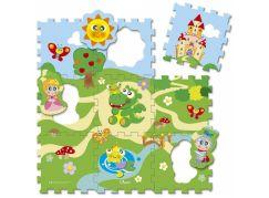 Chicco Hračka puzzle pěnové Hrad 9ks