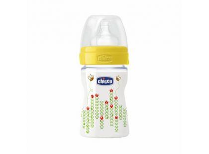 Chicco Láhev polypropylen 150ml sil.dudlík 0m+ Včelky žlutá