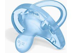 Chicco Šidítko Physio Soft celosilikónové, 0-6m+ barva modrá