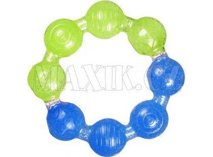 Chladivé gelové kousátko kroužek Munchkin - Modro-zelená