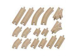 Chuggington Sada dřevěných kolejí - 16ks