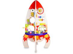 Classic world Dřevěný edukační hrací stůl raketa