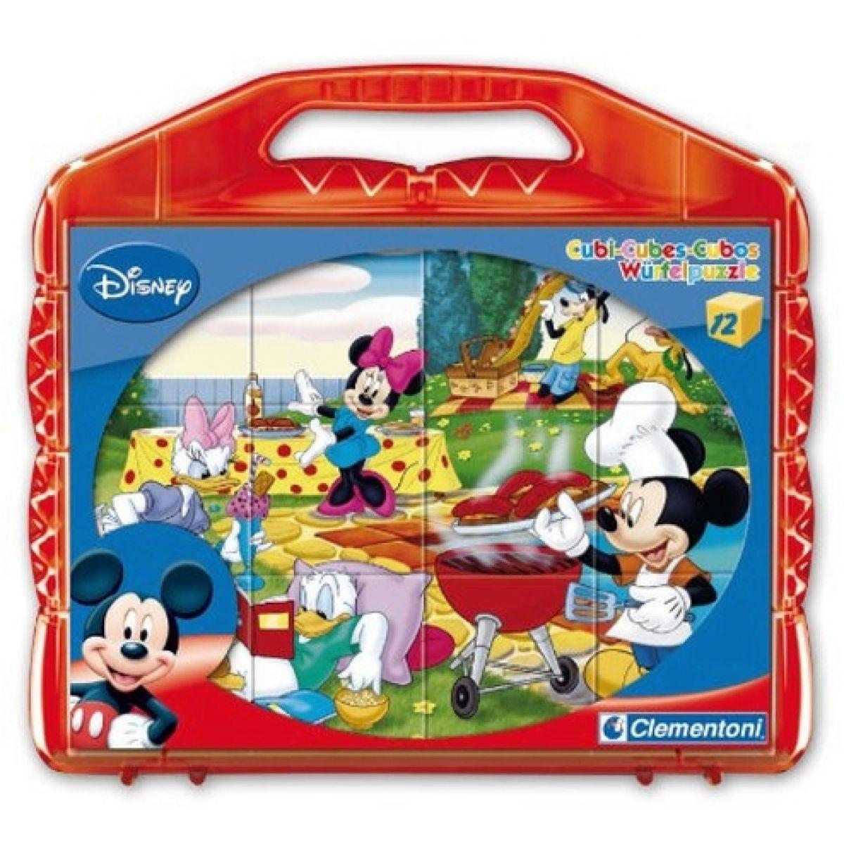 Clementoni 12 kostek v kufříku - Mickey Mouse