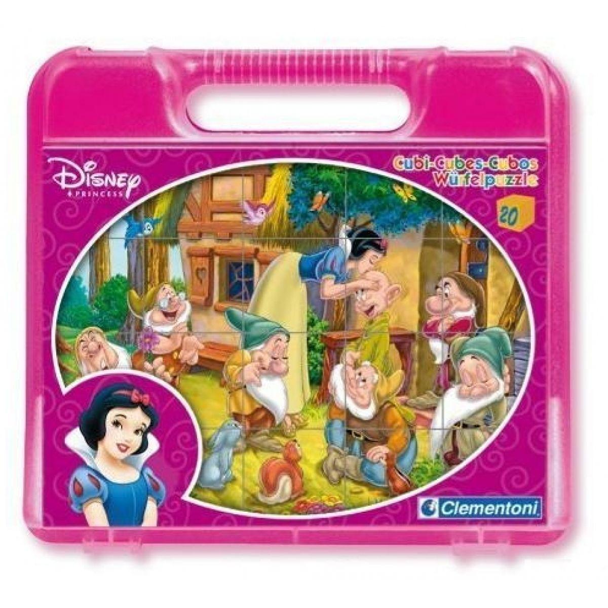 Clementoni 20 kostek v kufříku - Disney Sněhurka