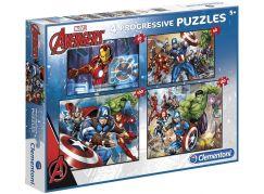 Clementoni Avengers Puzzle Progressive 4 v 1
