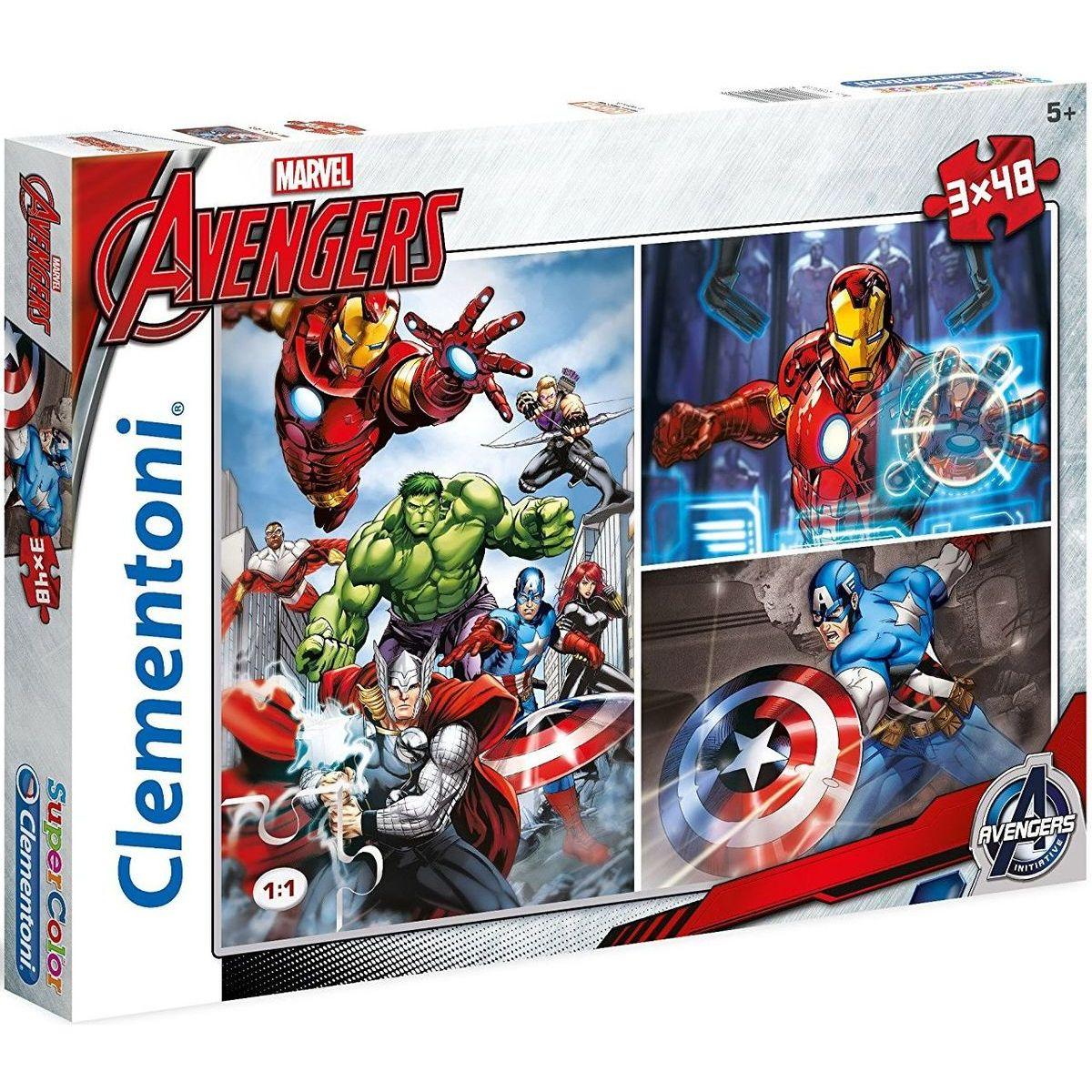 Clementoni Avengers Puzzle Supercolor 3x48 dílků