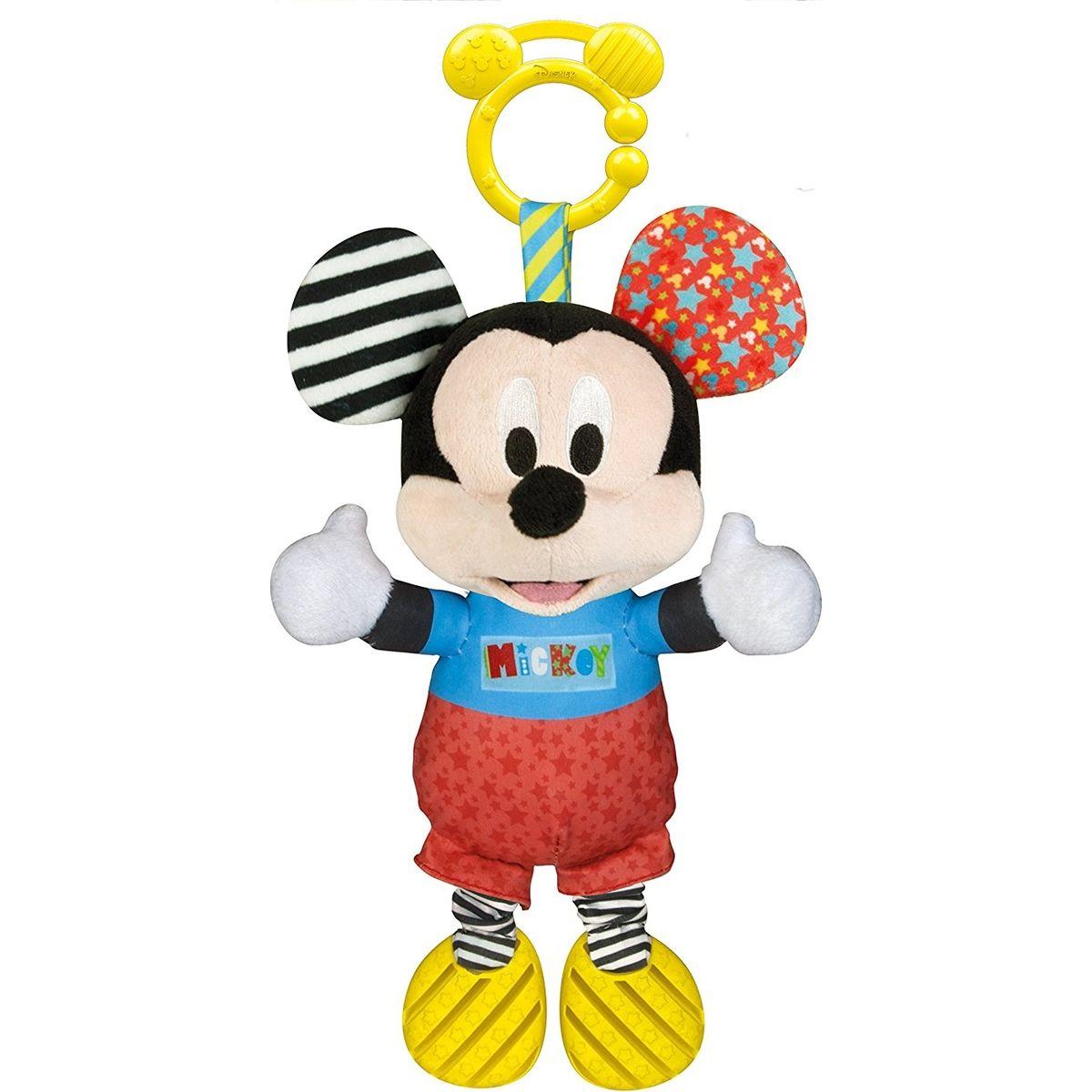 Clementoni Baby Mickey plyšový se zvuky a úchytem 25cm