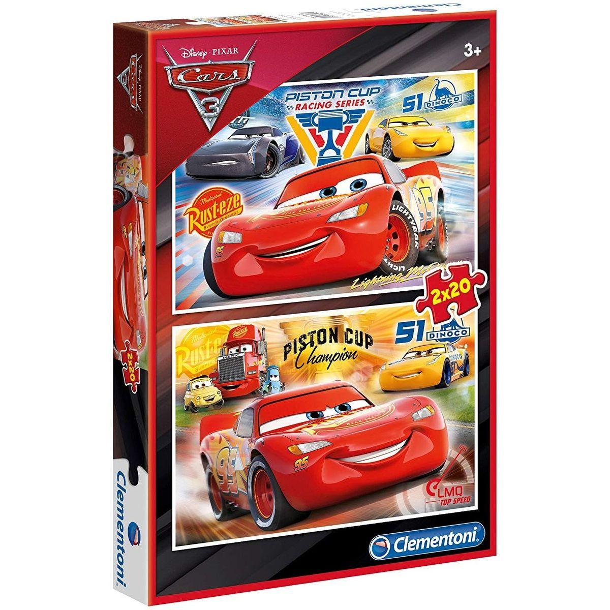 Clementoni Cars Puzzle 2 x 20 dílků