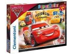 Clementoni Cars Puzzle Supercolor 104 dílků