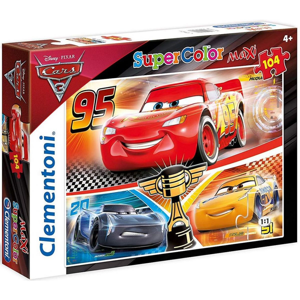 Clementoni Cars Puzzle Supercolor Maxi 104 dílků