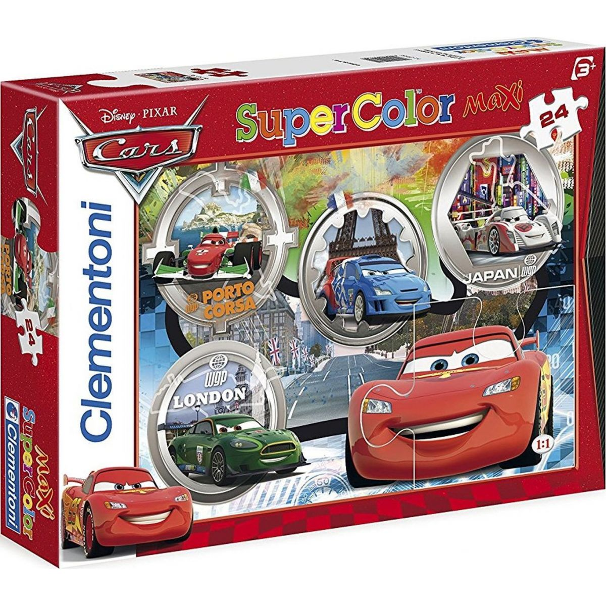 Clementoni Cars Supercolor Auta Puzzle Maxi 24d
