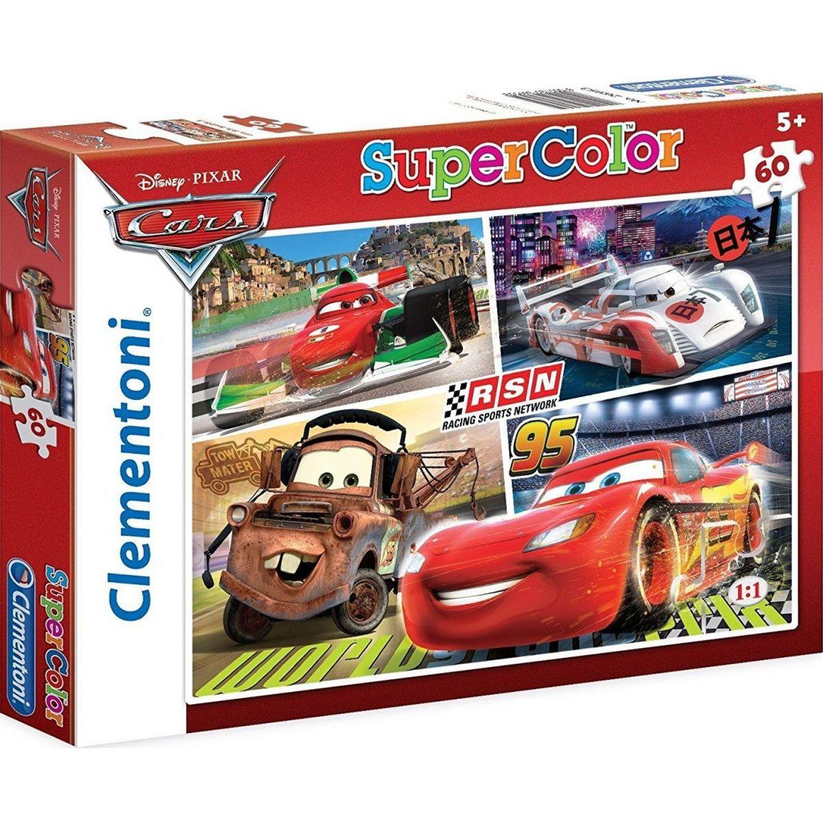 Clementoni Cars Supercolor Auta RSN Puzzle 60d