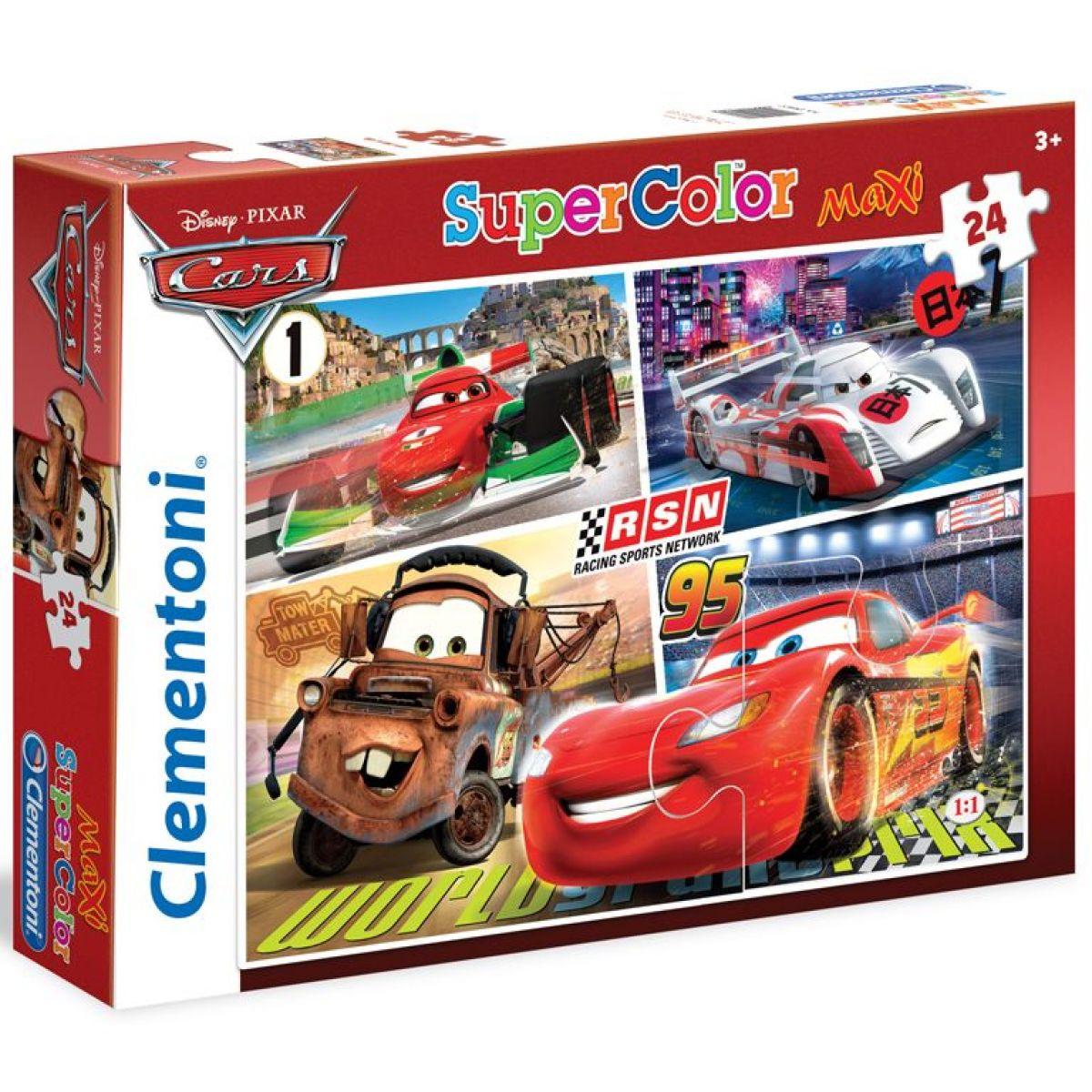 Clementoni Cars Supercolor Auta RSN Puzzle Maxi 24d