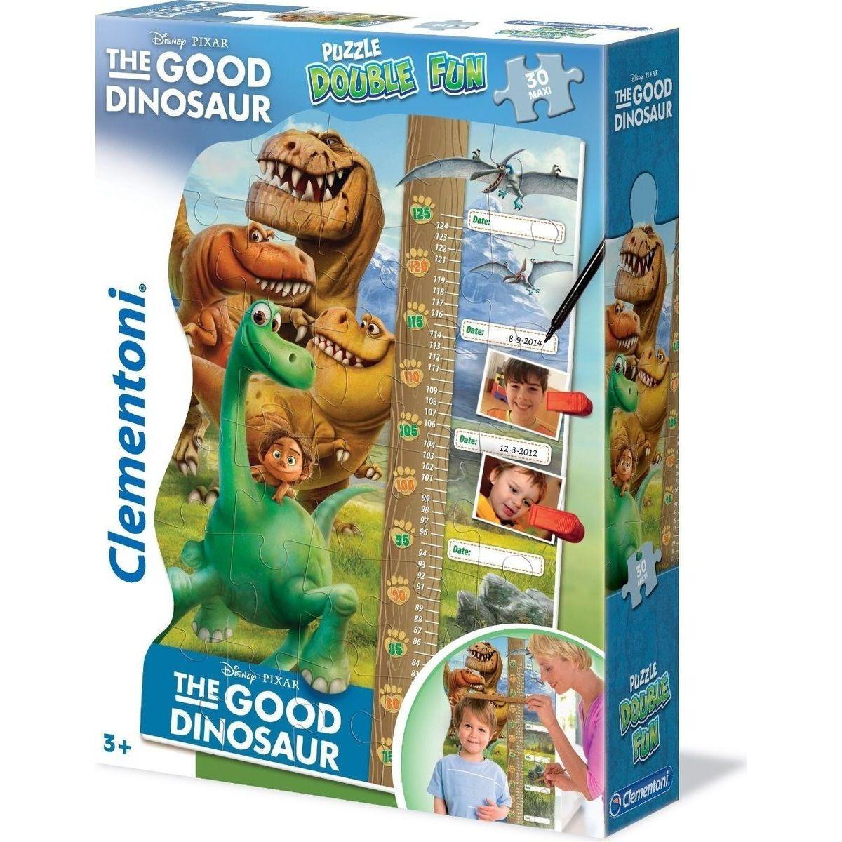 Clementoni Disney Double Fun Puzzle Good Dinosaur Maxi 30d