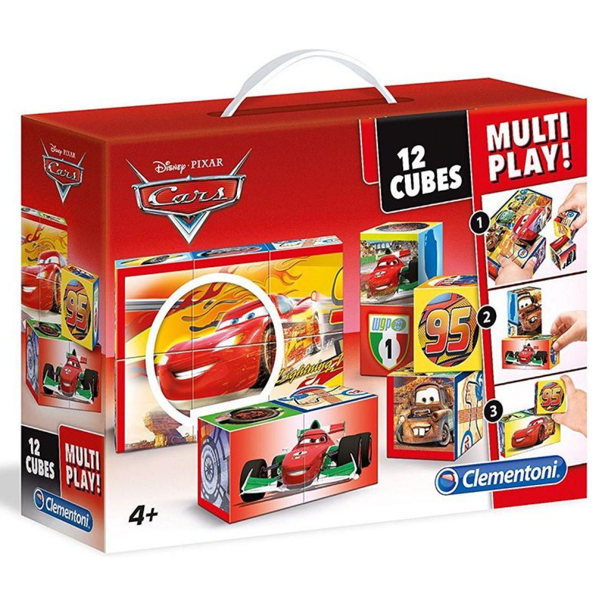 Clementoni Disney Kostky Cars Multi Play 12 kostek