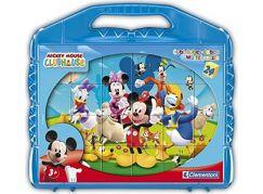 Clementoni Disney Kostky v kufříku Mickey Mouse 24ks