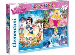 Clementoni Disney Princes Puzzle Supercolor Princezny 3x48d